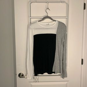 Vince Tops - Vince Colorblock Modal Long Sleeve Size Small